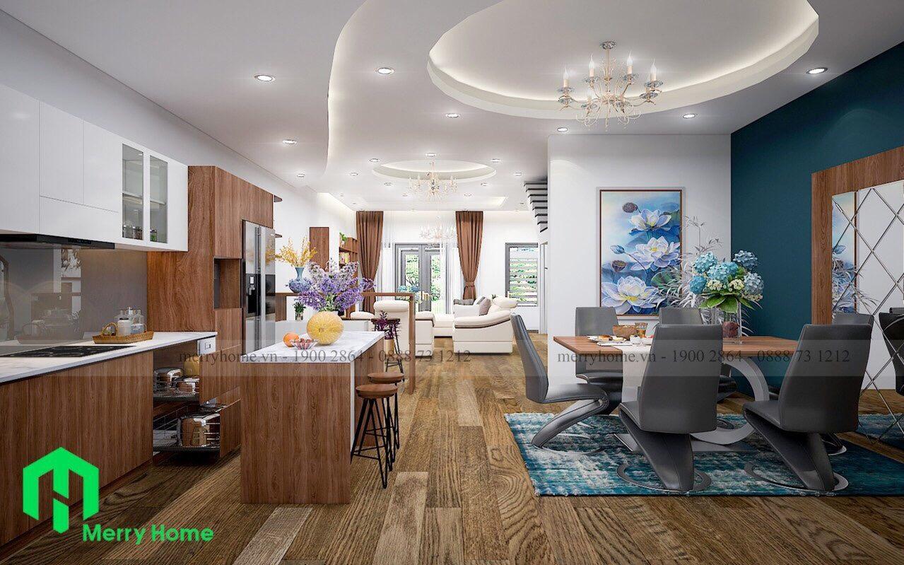 Biệt thự Ecolakes Mỹ Phước Bến Cát Bình Dương.Thiết kế 1 trệt 1 lầu,full nội thất mới 100%