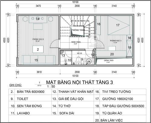 Tư vấn thiết kế nhà 42m2 gồm 3 tầng với 3 phòng ngủ hiện đại